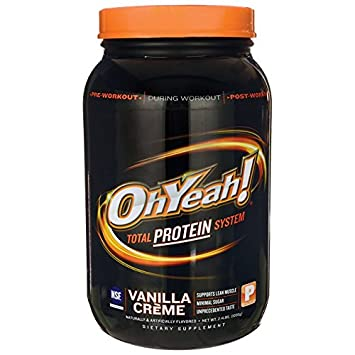 Oh Yeah Total Protein System Vanilla Creme — 2.4 lbs