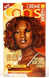 Amazon.com : Creme of Nature Colors Hair Color 6.4 Bronze Copper Pack of 3 : Chemical Hair