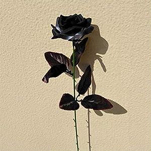 Topgalaxy.Z Artificial Flowers Black Roses, 25pcs Fake Roses w/Stem DIY Wedding Bouquets Centerpieces Arrangements Party Home Halloween Decorations, Halloween Decor Flower Party 5