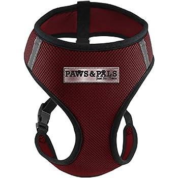 OxGord Pet Control Harness for Dog & Cat Easy Soft Walking Collar, Medium, Red