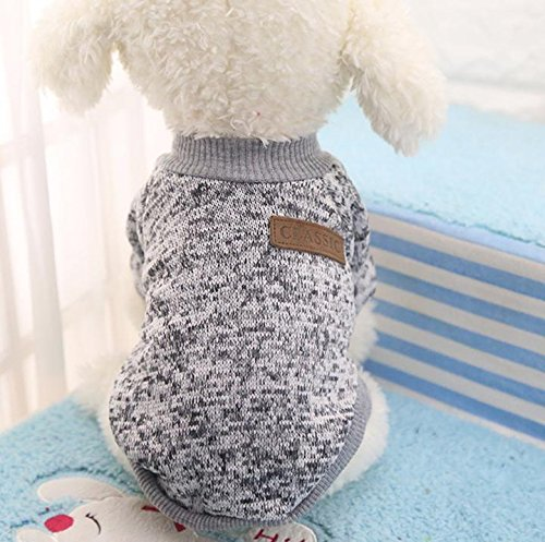 513FPqbmkoL - Be Good Pet Cloth Soft and Warm Knitted Sweater Dog Fleece Shirt Cat Apparel in Spring Autumn Winter Shirt for Small and Medium Animals XS/S/M/L