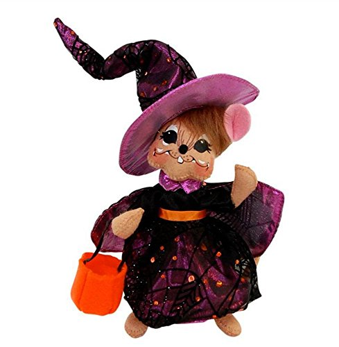 """2014 Annalee Dolls 6"""" Tangled Web Witch Mouse for Halloween"""