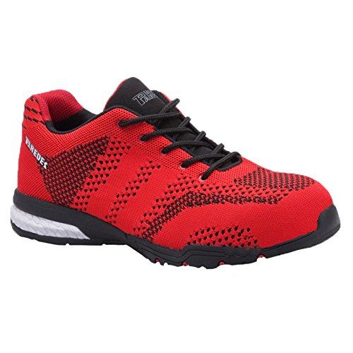 Paredes sp5039ro38Silverstone–Zapatos de seguridad S1P talla 38ROJO/NEGRO