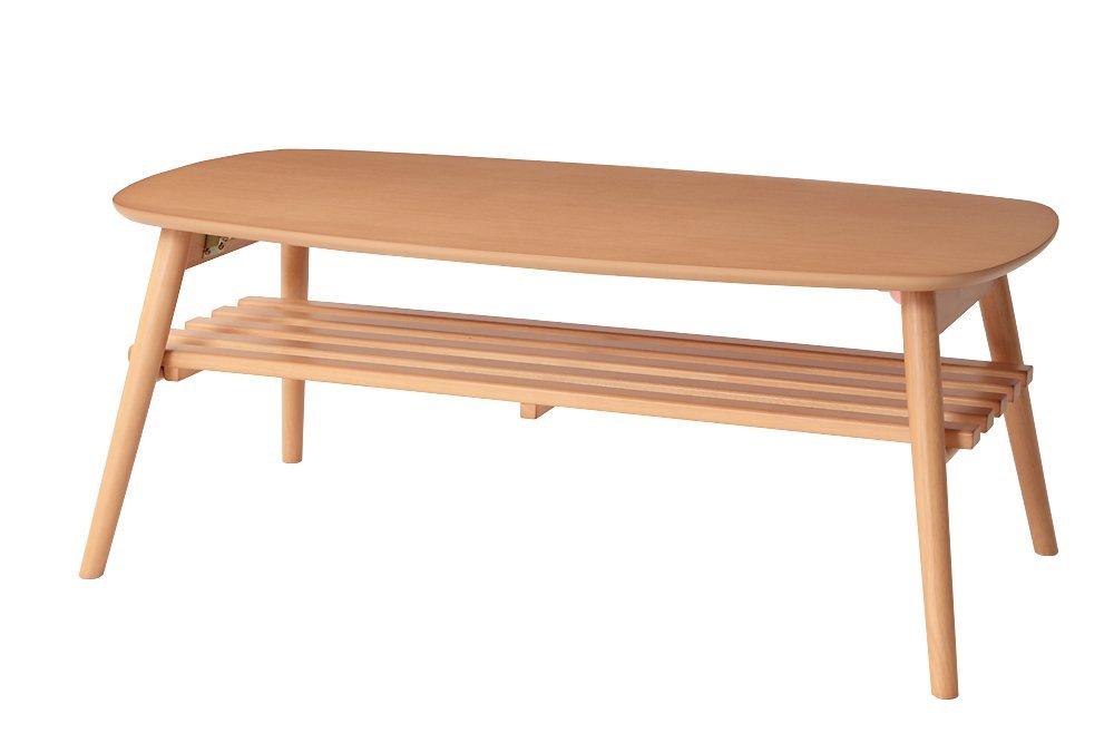 折れ脚センターテーブル ノルン (幅100cm, ナチュラル) B01DIGJ7WE  ナチュラル 幅100cm