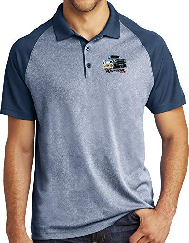 Ford F-150 Raptor Pocket Print Raglan Polo, Navy -