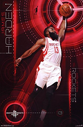 fan products of Trends International Houston Rockets James Harden Wall Poster 22.375