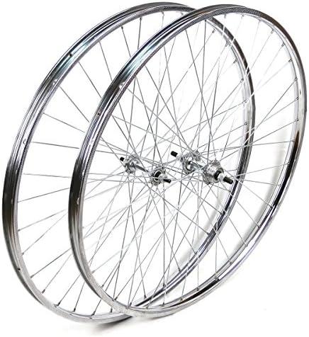 OldNewBikes Ruedas Delantera y Trasera Westrick 26 x 1 ½ de Acero Cromado para Bicicleta clásica: Amazon.es: Deportes y aire libre