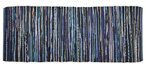 DII Contemporary Reversible Area Runner Rug, Machine Washable Rag Rug For Bedroom, Living Room, Kitchen, Hallways, or Laundry Room (2' 3