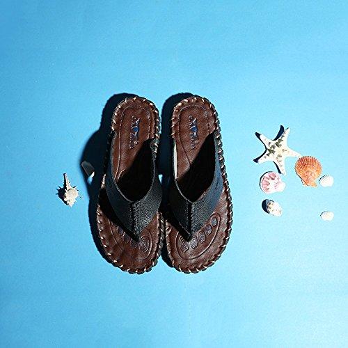 YQQ Da Uomo Scarpe Spiaggia Festa Et Da Casual Sandali Scarpe Maschili Scarpe Da Scarpe Estate Pantofole Antiscivolo Mezza Traspiranti Di rwrqxgd5zA