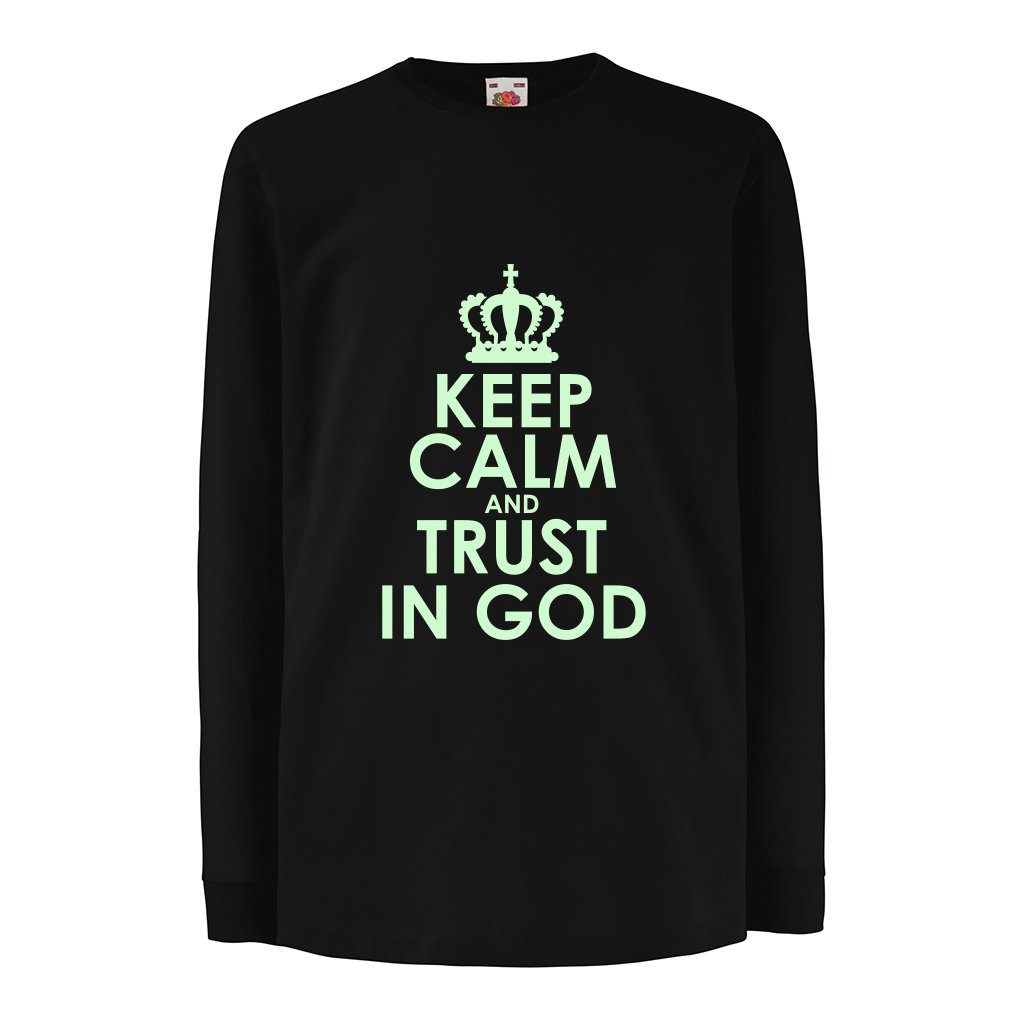 Kids Boys Girls T Shirt Trust in God! Jesus Christ Loves You Shirt Easter VACOM ADVARTAIZING Ltd