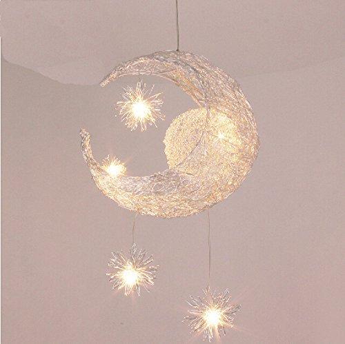 Lámpara de techo/plafón Lonfenner luna y estrellas, para habitación de los niños, salón