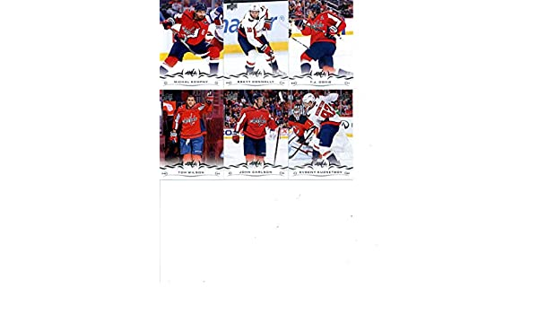 2018-19 Upper Deck Series 2 Hockey Washington Capitals Team Set of 6 Cards   Evgeny Kuznetsov( 437) b27cd8bda