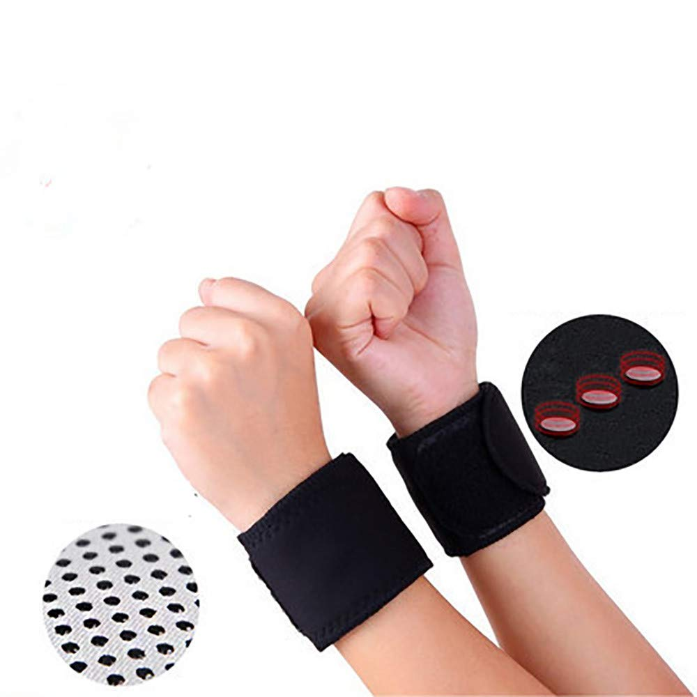 Gifts For Men, 1 Pair Magnetic Self-Heating Therapy Wrist Brace Sports Protection Belt Profess