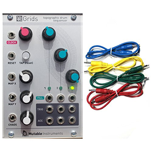 Mutable Instruments Grids Topographic Drum Sequencer Eurorack Module w/ 4 Cables