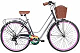 Cheap Gama Bikes Women's City Avenue Step-Thru 7 Speed Shimano Road Bicycle with Nebula Wheels, 17″/One Size