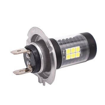 GDsun - Bombillas LED H7 CREE 16 SMD de 80 W para Faros Delanteros, Color