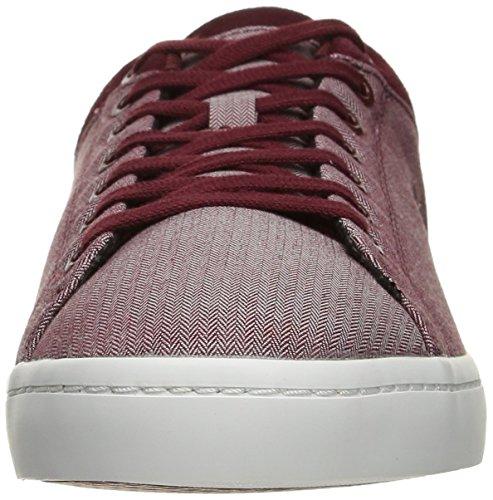 Lacoste Straightset Para Hombre Spt 1163 Spm Fashion Sneaker Dark Red