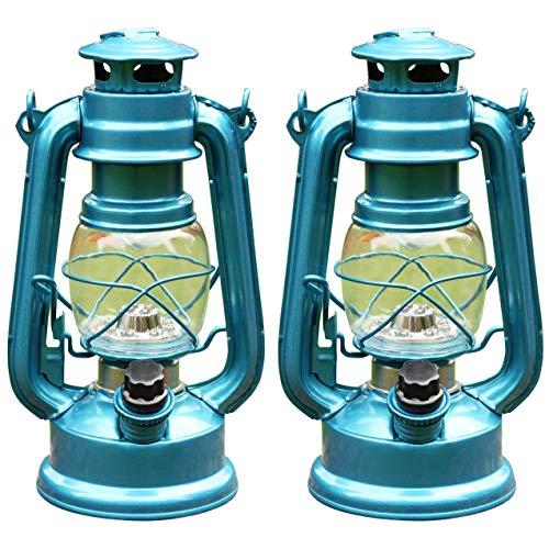 PK Green LED Hurricane Lantern, Dimmable, Set of -