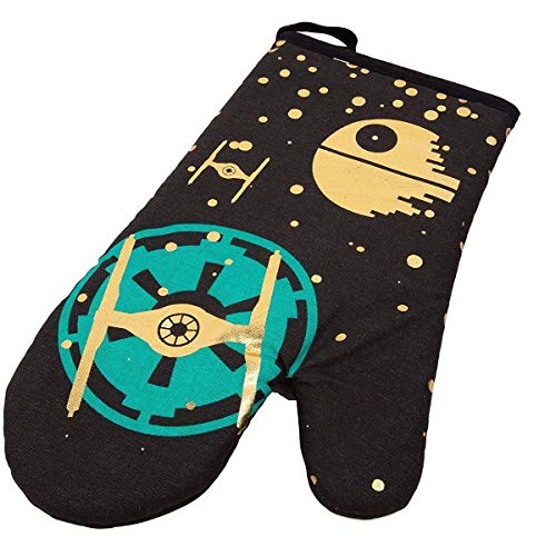 Seven20 Star Wars Oven Mitt - Cute Pinache Tie Fighter Design - Heat Resistant - 100% Cotton - Right Hand