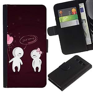 iBinBang / Flip Funda de Cuero Case Cover - Amor lindo Usted Pareja - Samsung Galaxy S3 III I9300