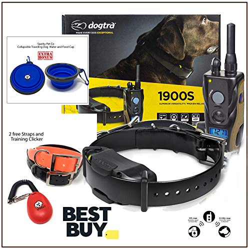 Dogtra 1900S with 2 Free Straps and SPC Training clicker System, and Traveling Water/Food Cup