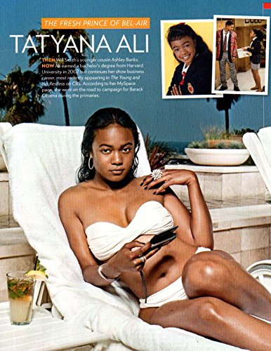 Tatyana Ali in Bikini original clipping magazine photo 1pg 8x10 #Q4407