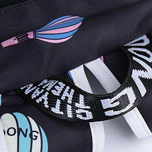 JUND Damen Retro Oxford-Gewebe Rucksack Frauen Mode Druck Schultasche Lässig Wasserdicht Daypack Laptop Backpack 15 6 Zoll khaki b7q5GRfvHT