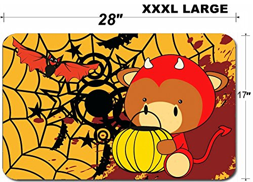 Liili Large Table Mat Non-Slip Natural Rubber Desk Pads bull baby cartoon halloween costume background in vector format IMAGE ID -