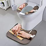 Jiahonghome Universal Toilet seat Tailor at Work with Chalk Square and Tape Measure Convenient Safety and Hygiene