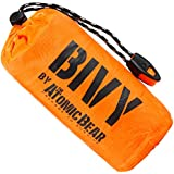 Bivy Emergency Sleeping Bag Lightweight and Compact Survival Gear Better Thermal Protection Than a Mylar Space Emergency Blanket