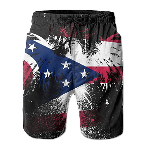 Men's Ohio State Flag Eagle Quick-dry Fast-drying Summer Beach Shorts