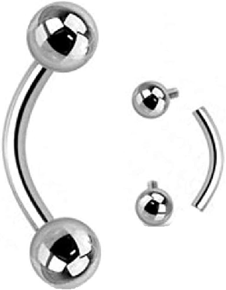 WildKlass Jewelry 316L Surgical Steel Nipple Bar with Multi-Gemmed Balls Sold Individually