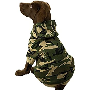 "Casual Canine Camo Hoodie for Dogs, 20"" XL, Green"