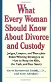 What Every Woman Should Know about Divorce and Custody, Gayle Rosenwald Smith and Sally Abrahms, 0399524479
