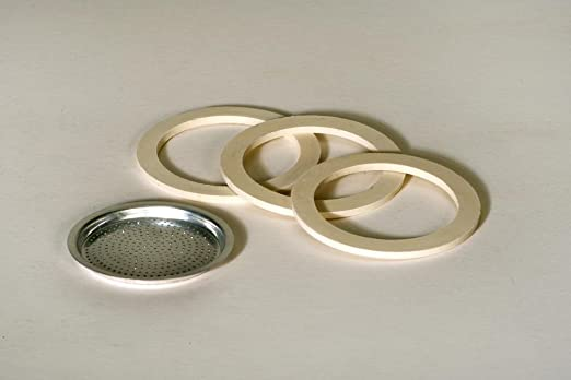 Filtros y 3 anillos de goma para cafetera de tamaño: 9 tazas ...