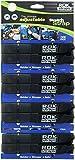 ROK Straps ROK-10314-4PR Black 12''- 42'' Adjustable Stretch Strap, 4 Pair