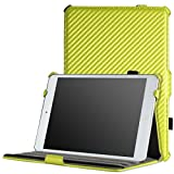 MoKo iPad Mini 3 / 2 / 1 Case, Slim-Fit Cover Case for Apple iPad Mini 1 (2012) / iPad Mini 2 (2013) / iPad Mini 3 (2014), Carbon Fiber YELLOW (Will not fit iPad Mini 4)