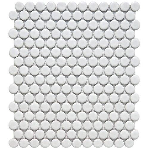 Bathroom Floor Wall Tiles (SomerTile FDXMPMW Retro Penni Porcelain Floor and Wall Tile, 9.875