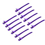 12Pcs Sectioning Clip Barrette Metal Duckbill Clip Hair Grip Clamps Salon Barber Hairdressing Styling Tools (Color : Purple)