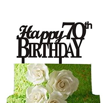 Happy 70th Birthday Cake Topper Party Supply70th