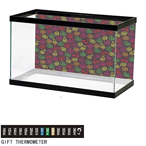 (bybyhome Fish Tank Backdrop Fruits,Apples Cherries Pears,Aquarium Background,60
