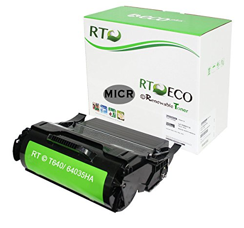 Renewable Toner MICR Lexmark 64035HA MICR Toner Cartridge 21k Yield for Lexmark Laser Printers T640 T622 T644 Series (Series T644 T642 Printers)