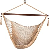 Image of Prime Garden Deluxe Cotton Rope Swing Chair, Tan