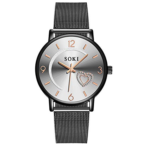 Diamond Dial Women Watches Women Stainless Steel relojes para Mujer erkek saat 50,as The Picture shows1,China