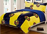 JORGE'S HOME FASHION LIMITED EDITION CLUB AGUILAS DEL AMERICA MEXICAN SOCCER BLANKET WITH SHERPA VERY SOFTY THICK AND WARM 2 PCS TWIN SIZE