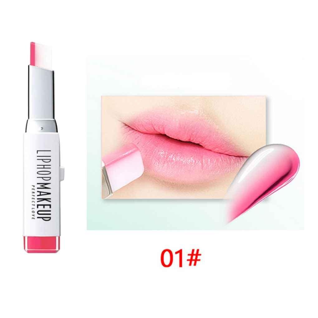 Providethebest LIPHOP 8 colores en forma de V del color del gradiente brillo de labios Tinte del lápiz labial de larga duración a prueba de agua hidratante Crema de cacao # 4 Provide The Best