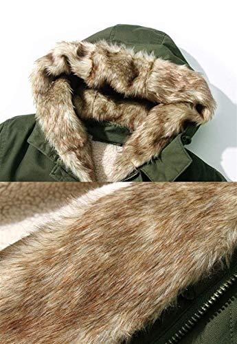 Armeegrün Hx Abiti Giacca Sportivo Da Piumino Con Taglie Comode Parka Invernale Fashion Cappotto Cappuccio Esterno Uomo Casual 441raqw