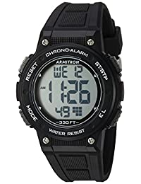Armitron Sport Women's 45/7086BLK Digital Chronograph Black Resin Strap Watch