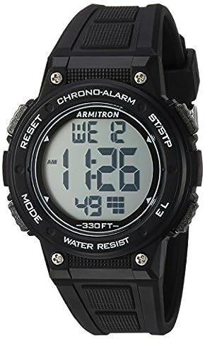 Armitron Sport Women's 45/7086BLK Digital Chronograph Black Resin Strap Watch (Sport Watch Ladies)
