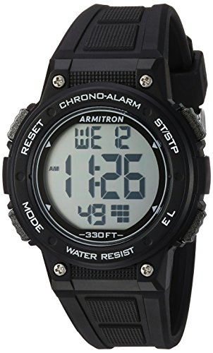 Armitron Sport Women's 45/7086BLK Digital Chronograph Black Resin Strap Watch ()